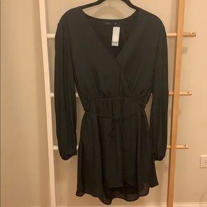 Aritzia Talula Basing Dress- Black Silk